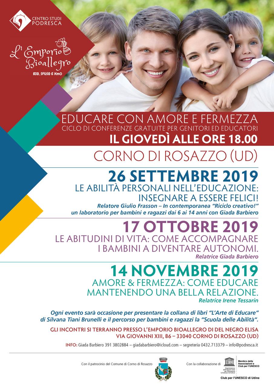 Conferenze per la qualità dell'educazione a Corno di Rosazzo